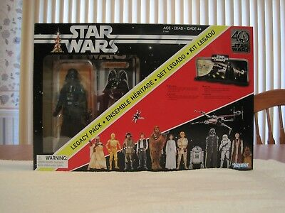 2017 Hasbro 40Th Anniversary Star Wars Black Series Darth Vader Legacy Pack-New