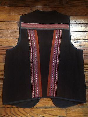Native American Indian Burlap Knit Colored Vest Bohemian Style Native Indian