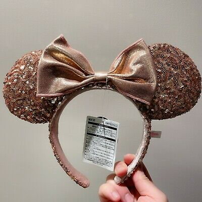 NWT Authentic Minnie mouse ear Headband rose gold Disneyland Disney Park Store