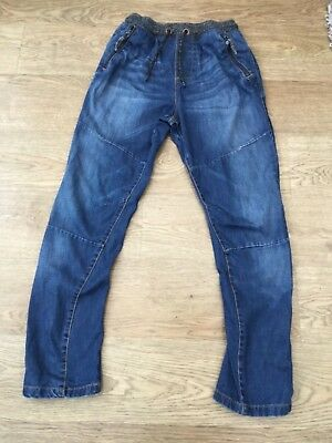 NEXT Boys Blue Denim ribbed waist Jeans Age 11 years