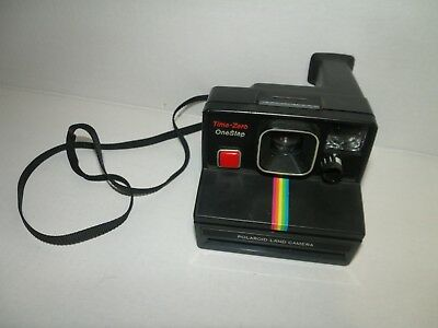 Vintage POLAROID Time-Zero One Step SX 70 Instant Land Camera Rainbow UNTESTED