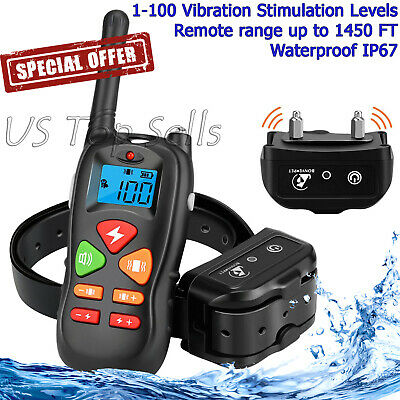 Electric Dog Training Shock Collar Rechargeable Waterproof Petrainer Remote 1000