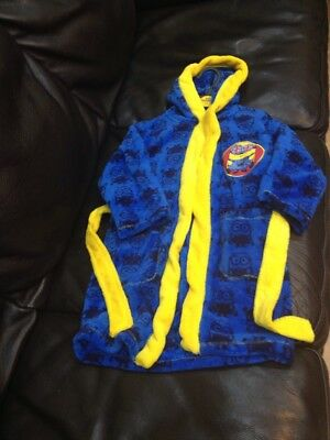 Boys Despicable Me Minions Hooded Fleece Dressing Gown Robe Age's 3-4 Years