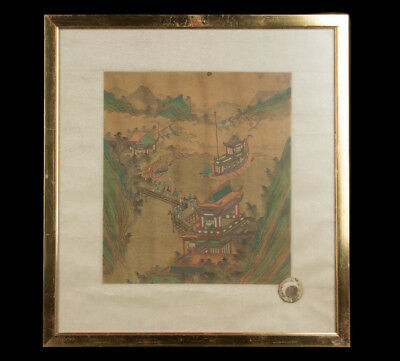 China 19. Jh. Seiden Malerei - A Chinese Painting On Silk - Chinois Cinese Qing