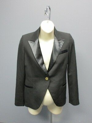 ISABELLA OLIVER Black Long Sleeve Solid Sample Maternity Blazer NWT Sz 6 8352A