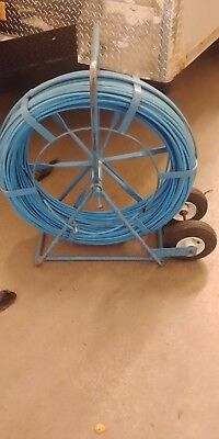 "Used 1000' Condux Duct Rodder compact cage 36"" tall with air tires."
