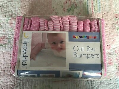 Bumpster 12 pack of Pink Cot Bar Bumpers