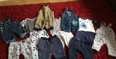 Bundle Of 0-3 Clothes (14 Items) Boys New And Used Items
