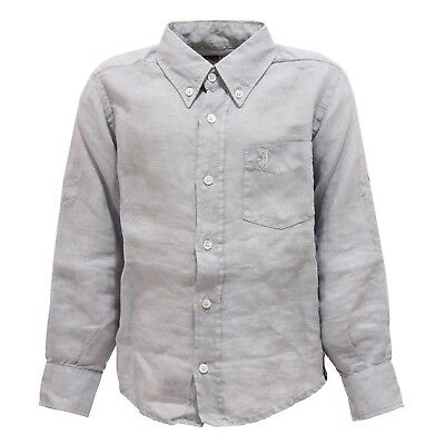 3395U camicia bimbo JECKERSON BABY grigio grey shirt long sleeve kid boy