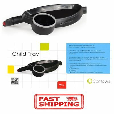 Stroller Child Toddler Food Tray Cup Holder Customize Attached BPA Free Durable