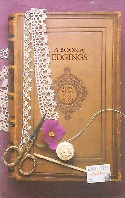 Used A Book Of Edgings Digest Size Crochet Knit & Tatting Pattern Book