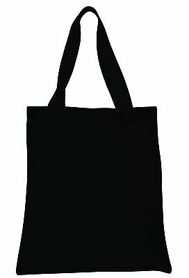 Black Cotton Shopping Tote Bag- Reusable/Grocery/Eco Friendly/College