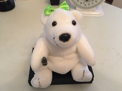 Coca Cola Plush 1997 Female Polar Bear w/Coke in Hand, New, Tag Attached
