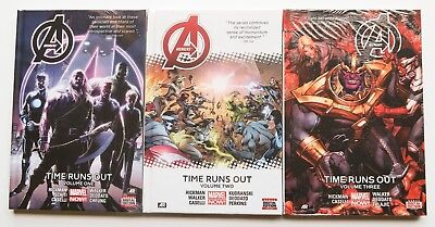 Avengers Time Runs Out Vol. 1 2 3 Hardcover NEW Marvel Now Book Lot