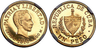 CUB@ 1916 AV Peso. NGC PR66UCAM Reported 100 minted, likely only 50 released.