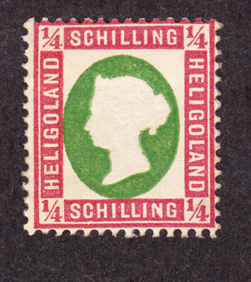 old germany heligoland 0,25 Schilling 1873 Mi#8c 8c MH * expertized proved