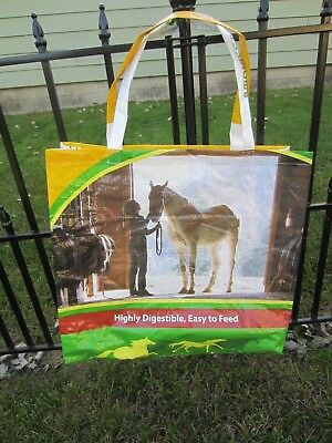 Upcycle~Horse In Barn Setting~Horse Feed Recycled Feed Bag~Grocery~Market Tote