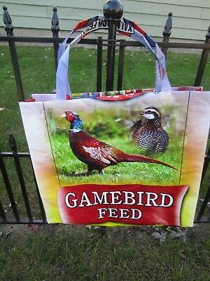 Upcycle~Pheasant & Quail~Gamebird Feed Recycled Feed Bag~Grocery~Market Tote