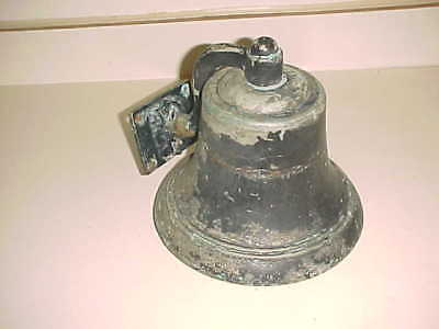 NAVY?  BRONZE or BRASS SHIPS BELL - Signed W ROWE  -  16 POUNDS