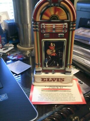 ELlVIS PRESLY ANHEUSER BUSCH JUKE BOX STEIN LIMITED EDITION COA AND BOX