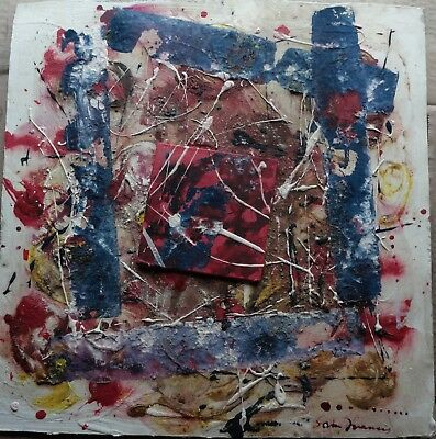 Vintiage Abstract painting signed Sam Francis, Modern Old 20th Century Art