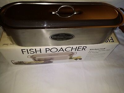 "Kitchen Craft Stainless Steel  45Cm 18"" Fish Poacher  Hardly Used"