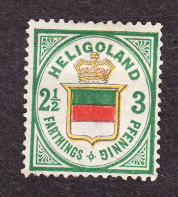 old germany heligoland 2,5 F / 3 Pf. 1876 Mi#17a 17a MH * expertized proved