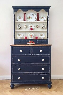Kitchen dresser, vintage dresser, Welsh dresser, blue dresser, kitchen storage