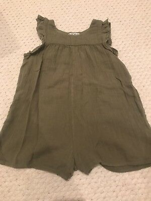 Next Younger Girls Khaki Playsuit Age 18-24 Months