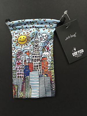 "James RIZZI: Art Bag / Mikrofaser Beutel ""MY NEW YORK CITY"" nach 3D, NEU 1. Wahl"