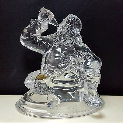 Coca-Cola Santa Claus Crystal Figurine Paperweight 1997 Cristal DArques 5""
