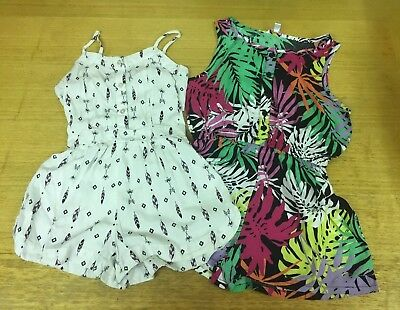 2 Girls Playsuits 7 Years Excellent Condition