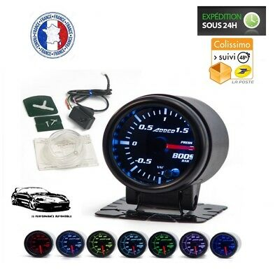 Kit Manomètre Pression Turbo Ø52 Smoke-Led 7 couleurs - Subaru Impreza Turbo