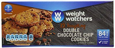 WeightWatchers Double Choc Chip Cookies 114 g  Pack of 10