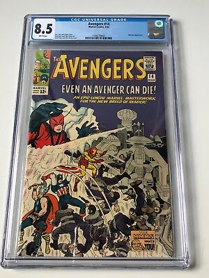 Avengers #14 - CGC 8.5 - Watcher App - White Pages (1965)