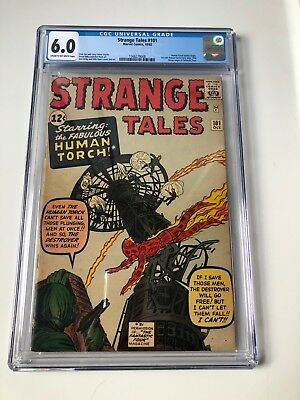 Strange Tales #101 - CGC 6.0 - 1st Solo Human Torch Story Since 1954