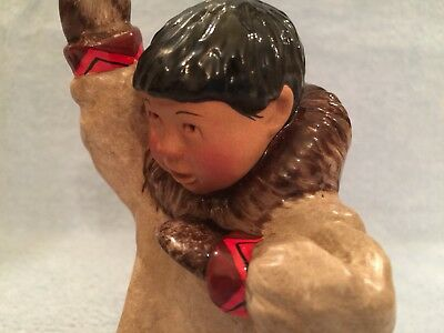 """C. Alan Johnson Inuit figurine """"BENNY"""" AG 173 1963 In Excellent Condition"""