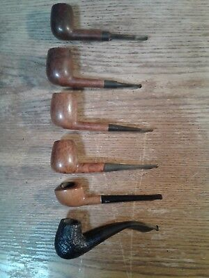 Lot of 6 Vintage Smoking Tobacco Estate Pipes good condition, uncleaned