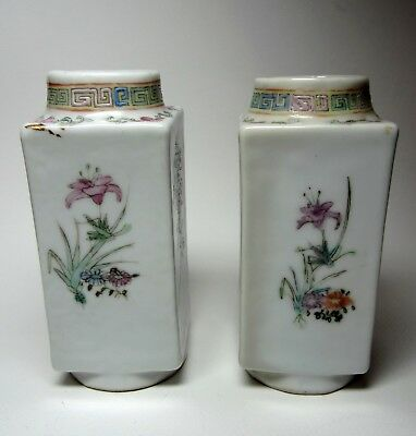 Two antique Chinese Porcelain Salt & Pepper Shakers