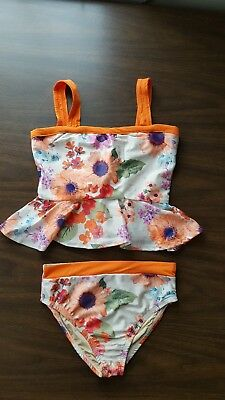 NWT Girls Floral Joyfolie 2 piece Swimming Suit, Size 6