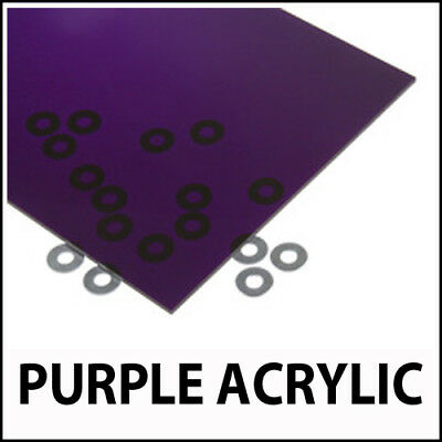 3mm Tinted Purple Perspex Acrylic Plastic Sheet Cut to Size Transparent Glass