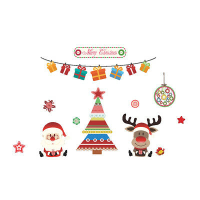 Cute Large Christmas Santa Window Decorations / Wall Stickers / Christmas Decal