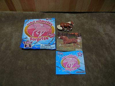 Breyer Mini Whinnies Sliding Stop Flaxen Chestnut Opened Blind Bag