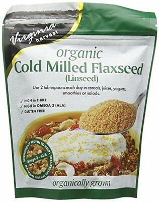 Virginia Harvest Cold Milled Organic Flaxseed 200 g  Pack of 4