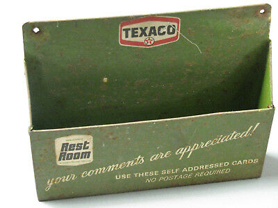 Texaco Metal Rest Room Comment Holder