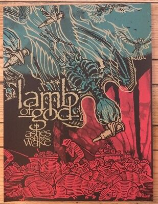 Rare Lamb of God Silkscreen Poster Ashes Of The Wake 18X24 inches