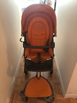 Stokke Xplory Stroller - Orange - All accessories included