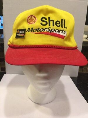 Vintage Shell Motorsports Racing Hat With Pin. Vintage Racing Hat