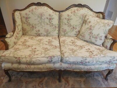 Matching Pair Of Country French Love Seats
