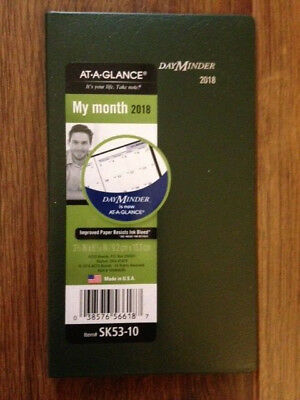 AT-A-GLANCE DayMinder Monthly Pocket Planner, Item# SK53-10, 2018 - 038576566187